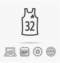 team assistant icon basketball shirt sign vector image