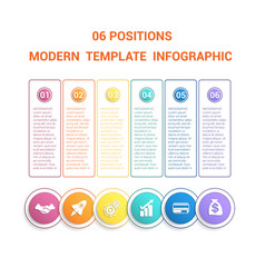 timeline modern template infographic for business vector image
