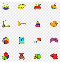Toys set icons vector image