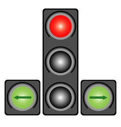 Traffic light for cars vector