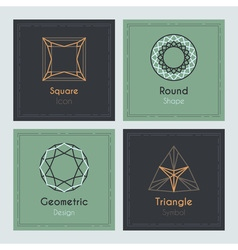Trendy Cards with geometric symbols vector image vector image