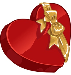 Valentines day gift candy with gold decorative vector image