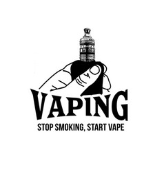 vaping label or emblem vector image