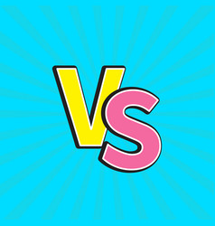 versus letters or vs battle fight competition vector image