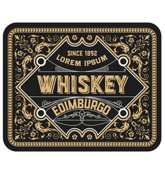 vintage label suitable for whiskey or other vector image
