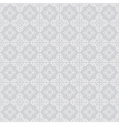 White ornament on gray background - seamless vector