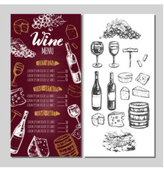 Wine restaurant menu 4 vector
