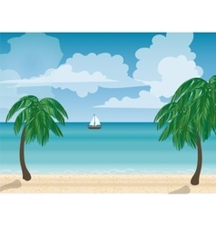 Yacht on the sea natural landscape vector