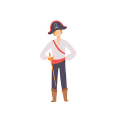 young man dressed as pirate guy in bright vector image