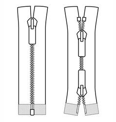 Zipper open ended types scheme zip vector