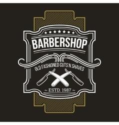 barbershop emblem signage vector image