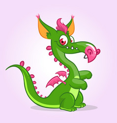 cute small cartoon dragon vector image