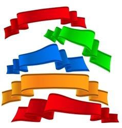 Decorative ribbon vector image