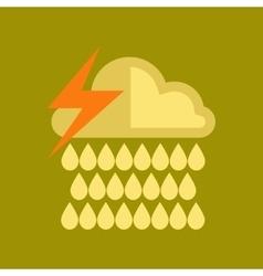 flat icon on stylish background thunderstorm rain vector image vector image