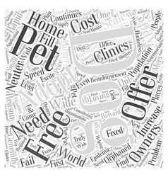 Free dog adoptions word cloud concept vector