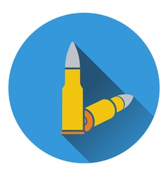Icon of rifle ammo vector image vector image
