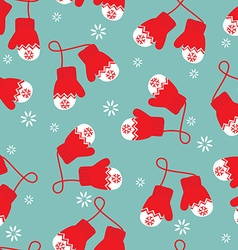 Mittens pattern vector image