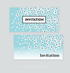 spring blossom invitation card template simple vector image vector image