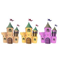 Three castles vector image vector image