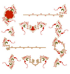 vintage decoration pages set vector image vector image