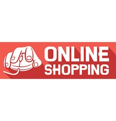 Online shopping sign icon vector