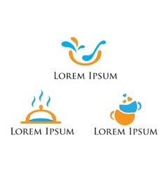 set of logos signs for food vector image