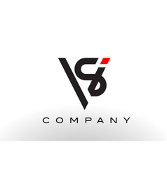 sv logo letter design vector image