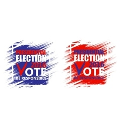 USA presidential election poster Brush strokes vector image
