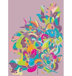 abstract digital colorful background vector image