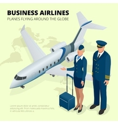 Business airlines Planes flying around the globe vector image vector image