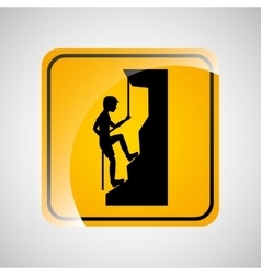 climbing person sign sport extreme design vector image vector image