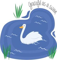 Graceful As Swan vector image