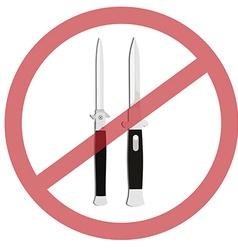 No weapon vector image vector image