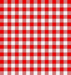 Seamless checkered tablecloth vector