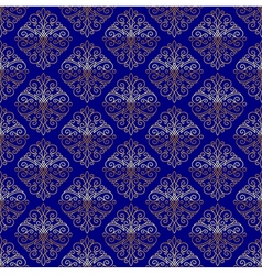 Seamless pattern with flourishes calligraphic vector image vector image