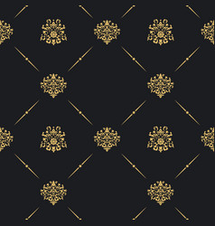 seamless vintage pattern decor vector image vector image
