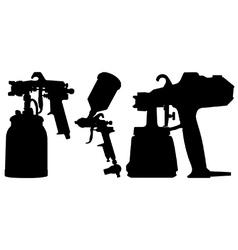 Spray guns vector image vector image