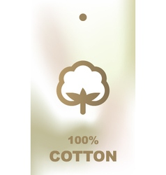 Cotton tag vector image