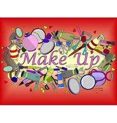 Make up vector image