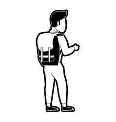 mountain climber cartoon vector image