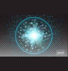 round frame shining circle lights effect vector image