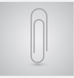 a realistic paperclip vector image
