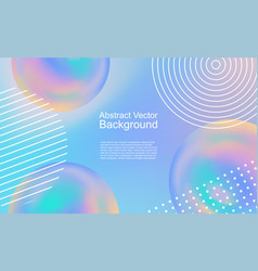 Abstract background design with rainbow balloons vector