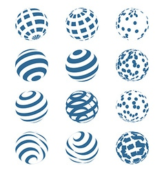 Abstract Sphere Logo Set vector