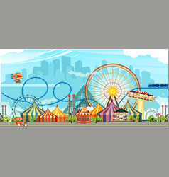 Amusement park circus vector