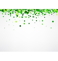 Background with green confetti vector