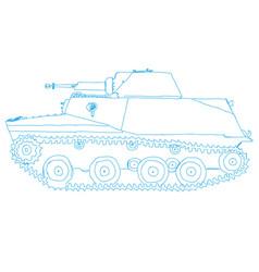 Battle tank doodle style vector
