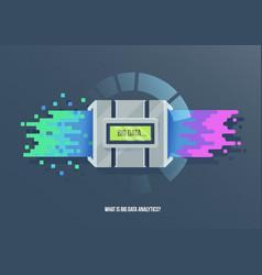 Big data machine learning algorithms icon vector