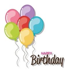 birthday balloons air celebration vector image