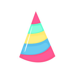 birthday colorful cap accessory symbol the vector image